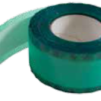 TAPE WITH ADHESIVE-FREE CENTRE SECTION